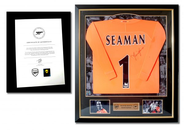 David Seaman Signed Shirt.
