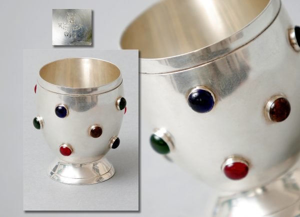 A Silver Plated Goblet.