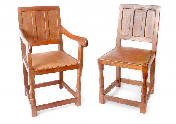 Set of Sid Pollard Oak Dining Chairs.
