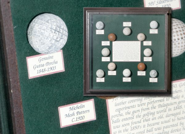Set of Framed Golf Balls.