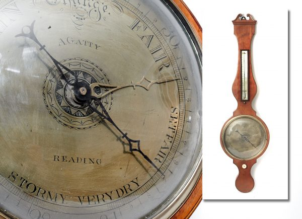Regency Wheel Barometer.