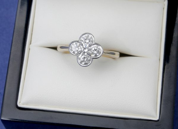 Diamond Cluster Dress Ring.
