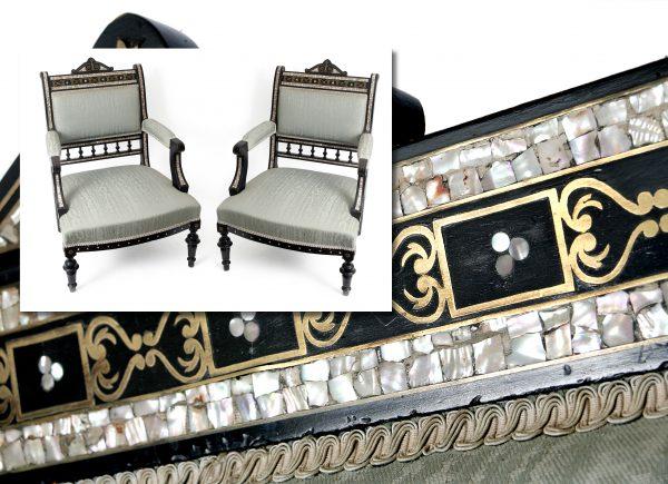 An Early Victorian Part Salon Suite.