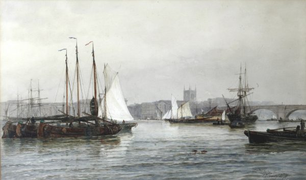 T.B. Hardy London Bridge, Watercolour.