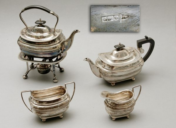 A George V Silver Tea-Set.