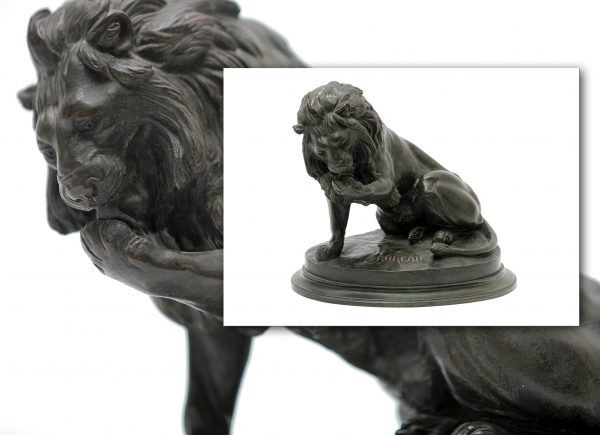 Bronze Figure of Lion.
