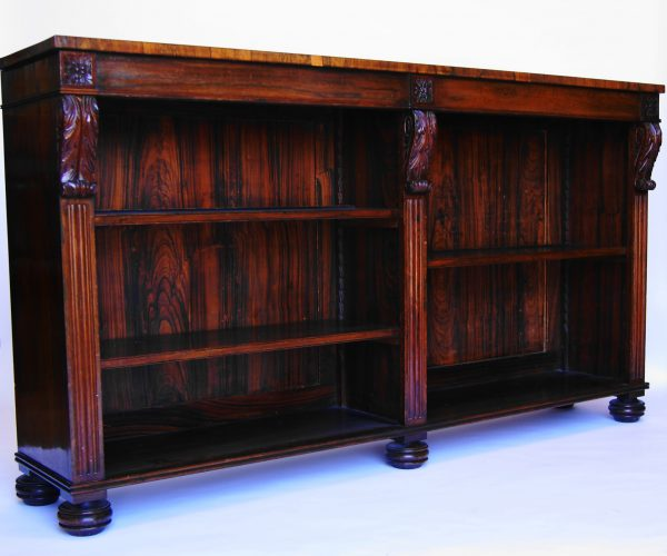 Rosewood Dwarf Bookcase.