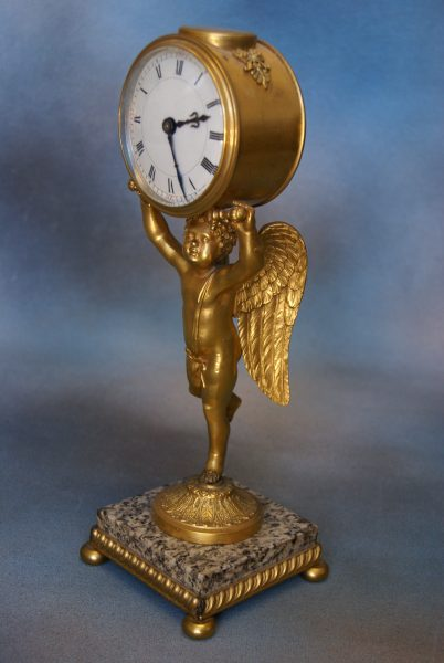 French Gilt – Metal Mantel Clock.