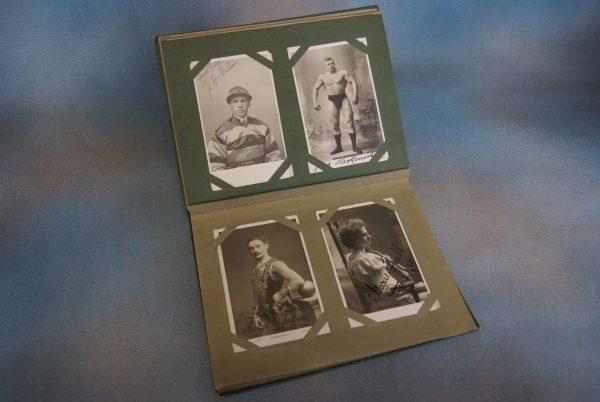 Autographed Postcard and Photograph Album.
