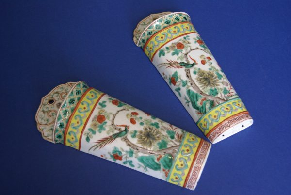 Pair of Porcelain Wall Pockets.