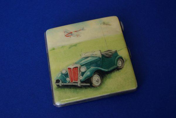 George VI Silver Cigarette Case.