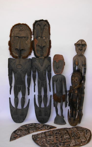 Carved Tribal Figures.