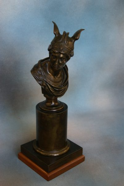 Bronze Bust of Winged Messenger.