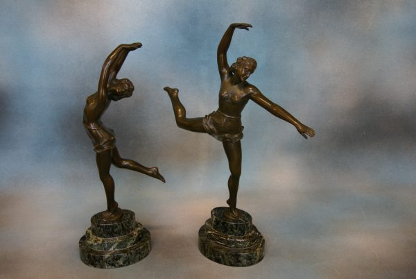 S. Melani – Pair of Bronzes.