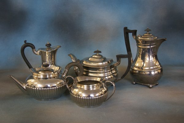 A Three-Piece Silver Tea-Set.