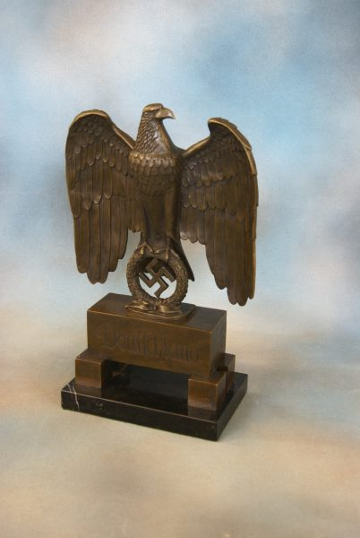 A Bronze Desk Eagle.