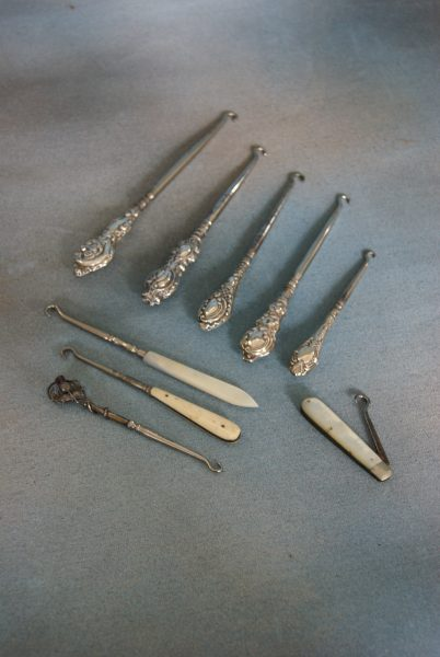 A Collection of Button Hooks and Shoe Horns.