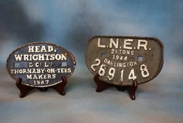 LNER Railway Wagon Plate.