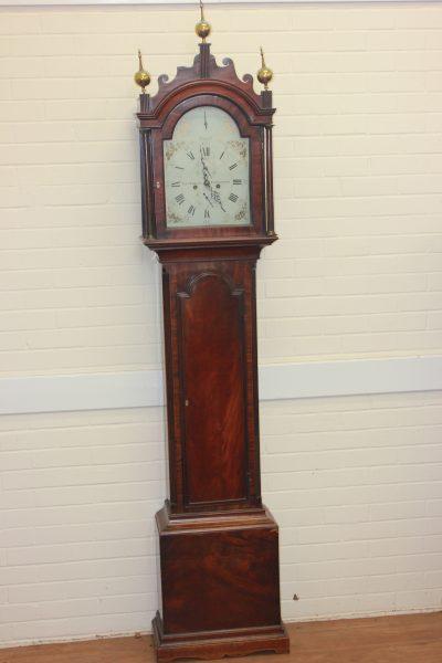 George III Mahogany Longcase Clock.